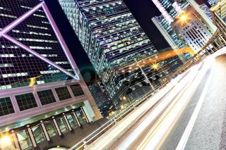 traffic at night in city