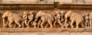 Stone carving bas relief panorama