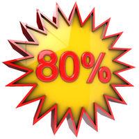 Star off eighty percent