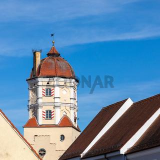 Turm, Oberes Tor, Stadttor von Aichach, Bavaria, Germany