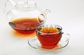 Tee in einer Glasstasse