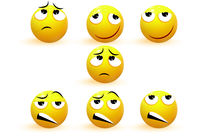 Emoji. Emotion icons vector collection