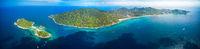 Aerial view panorama koh Tao