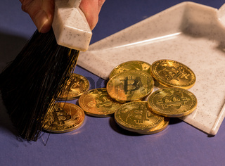 Concept for price collapse of bitcoin and cyber coins as they are trashed