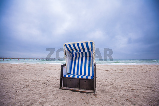 white beach chair