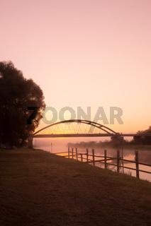 river Warta at dawn