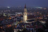 Jodokskirche in Landshut bei Nacht