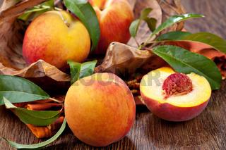 fresh and sweet peach