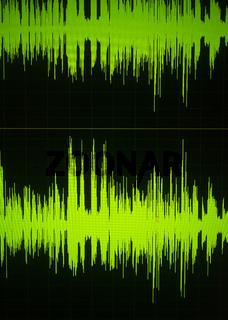 Voiceover studio audio sound wave