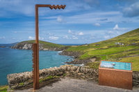 Blasket Island Viewpoint with scenic Dunmore Head in Dingle Peninsula