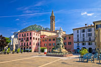 Town of Lecco colorful square view