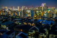 Minato Mirai skyline and fireworks