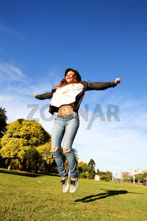 Jumping in the Park