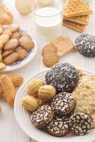 Various fresh baked sweet pastry