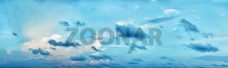 Panoramic composition - beautiful cloudy day sky