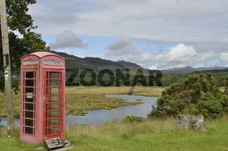 Schottland, Cowal, Telefonzelle