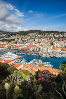 Port and City of Nice in France