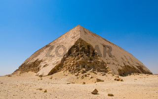 Bent pyramid at Dahshur, Cairo, Egypt