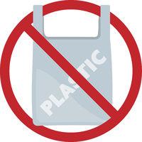 plastic bag free sign or symbol vector illustration