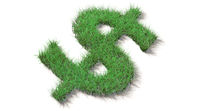 Earn money with environmental protection (Dollar sign)