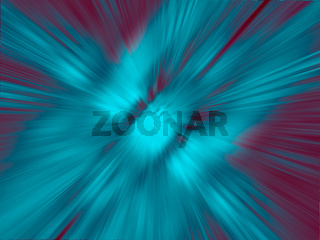 Turquoise blurred motion background with rays of light - 3D illustration