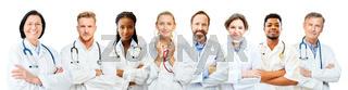Ärzte Team verschiedenen Alters als Studium oder Klinik Konzept