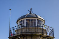 ST IVES, CORNWALL, UK - MAY 13 : View of the lighthouse at St Ives, Cornwall on May 13, 2021