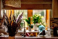 domestic kitchen decorations in private home
