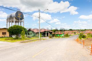 Panama Hacia town, houses of the Praderas of San Miguel urbanization