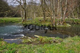Lautertal bei Lauterach,  Biosphärengebiet Schwäbische Alb, Deutschland