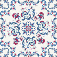 Rosemaling vector pattern 34