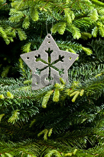 Silber Weihnachtsbaumdekoration