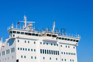 Ships bridge on a passenger ferry