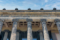 Facade with big iconic pillars Altes Museum in Berlin
