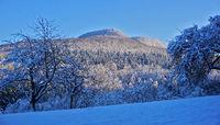 Blick zum Dreifürstenstein, Schwäbische Alb, View to Dreifürstenstein, Swabian Alps,