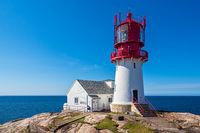 Der Leuchtturm Lindesnes Fyr in Norwegen