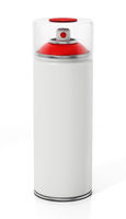 Blank spray can isolated on white background. 3D illustration