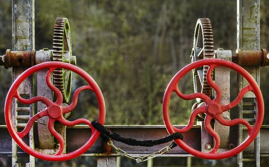 Die Handraeder der Schneckengetriebe