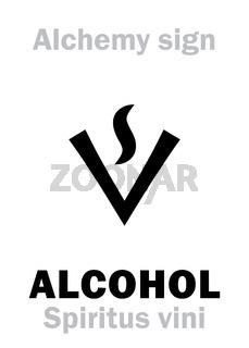 Alchemy: ALCOHOL / Spirit of Wine (Spiritus vini)