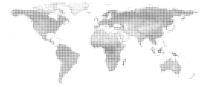 simplified half-tone topographic world map