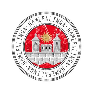 Hameenlinna city postal rubber stamp