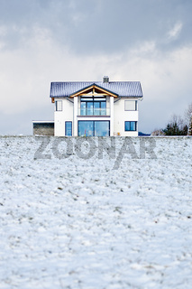 House in a Winter Meadow