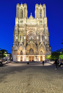 abendliche Kathedrale von Reims