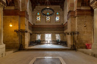 Main hall of Beshtak Palace, an ancient historic palace built in the Mamluk era, located in Muizz Street, Cairo, Egypt
