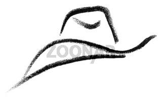 cowboy hat sketch