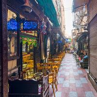 El Fishawi old cafe, at Mamluk Khan al-Khalili bazaar, closed during Covid-19 lockdown, Cairo, Egypt