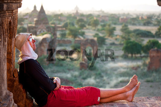Tourist in Bagan
