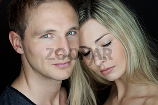 Portrait of a beautiful young couple