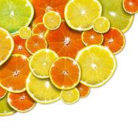 Orange and Lemon Background