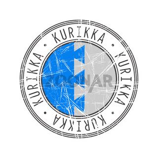 Kurikka city postal rubber stamp